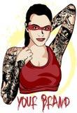 Dame Tattooed Lizenzfreie Stockfotos