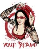 Dame Tattooed Stockbilder