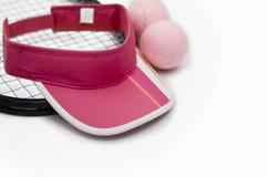 Dame-Tennis-Ausrüstung Stockfoto