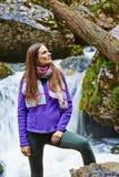 Dame Trekker Lizenzfreies Stockfoto