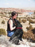 Dame und Hund Lizenzfreies Stockbild