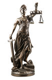 Dame van Rechtvaardigheid Stock Afbeeldingen
