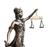 Dame van Rechtvaardigheid Stock Foto's