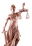 Dame von Gerechtigkeit Stockfotos