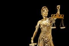 Dame von Gerechtigkeit Lizenzfreie Stockbilder