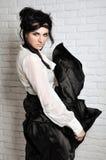 Dame in zwart-wit Royalty-vrije Stock Afbeelding