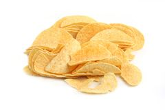 Damege potato chips Stock Photography