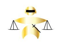 Damegerechtigkeit lizenzfreie abbildung