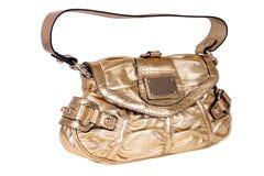 Damehandtasche getrennt auf weißem Hintergrund Lizenzfreie Stockfotos