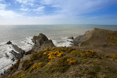 Damehole Point. View from Damehole Point Hartland Devon Uk Royalty Free Stock Photography