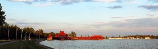 Damen-Bad Zenski-Strang auf See Palic, Serbien lizenzfreies stockfoto