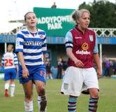 Damen der Lesungsfc Frauen-V Aston Villa Stockfotos