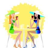 Damen, die Cocktail trinken Lizenzfreie Stockbilder