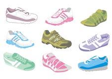 Damen, die Schuhe ausbilden Stockfotografie