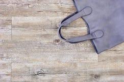 Damen Grey Handbag Lizenzfreie Stockfotografie
