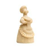 Damen med släntrar gjort av läcker vit choklad Arkivfoton