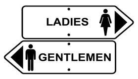 Damen und Herren stock abbildung