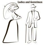 Damen und Herren lizenzfreie abbildung