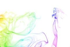 Damen- und Rauchhintergrund Lizenzfreie Stockfotografie