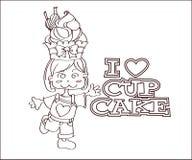 Damenentwurf des kleinen Kuchens Lizenzfreie Stockbilder