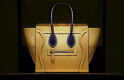Damenlederhandtasche Stockfoto