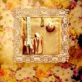 Damenschneiderinschneider der Retro Dekoration Stockbilder