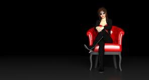 Damensitzen Stockfotos