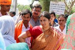 Damepoliticus van India Stock Afbeeldingen