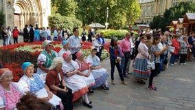 Damerna av budapest Arkivfoton