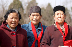 Dames âgées rurales Image libre de droits