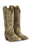 Dames Bruine Westelijke Cowboy Boots stock foto
