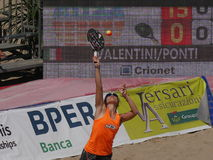 Dames 2016 d'†de championnat du monde de tennis de plage d'ITF les «doublent la finale Images stock