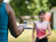 Dames de badminton Photo stock