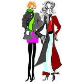 Dames de dessin animé Photos stock