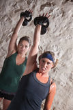 Dames die de Training van de Stijl van het Kamp van de Laars doen royalty-vrije stock foto