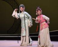 "Dames en meisje-Kunqu het Opera ""the Westen Chamber† Royalty-vrije Stock Foto's"