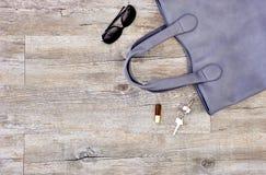 Dames Grey Handbag photographie stock libre de droits