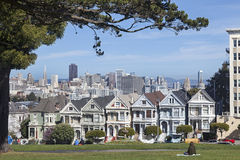 Dames peintes à San Francisco photo stock