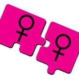 Dames roses Photographie stock libre de droits