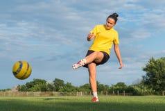 Damesvoetbal stock fotografie