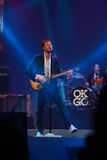 Damian Kulash lead vocals and guitar player. ORLANDO, FLORIDA – JANUARY 15: Damian Kulash lead vocals and guitar player of rock band OK Go performs at IBM Royalty Free Stock Image