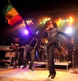 Damian Marley esegue di concerto fotografia stock libera da diritti