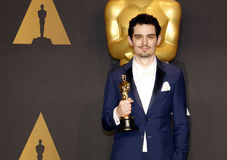 Damien Chazelle. At the 89th Annual Academy Awards - Press Room held at the Hollywood and Highland Center in Hollywood, USA on February 26, 2017 Stock Photos