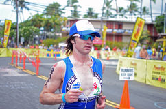 Damien Collins. Of Australia during the Ironman world championship in Kailua Kona, Hawaii. He placed 206th overall Royalty Free Stock Photography