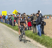 Damien Gaudin- Parigi Roubaix 2014 Fotografia Stock