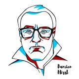 Damien Hirst Portrait royaltyfri illustrationer
