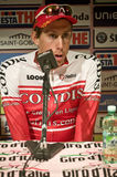 Damien Monier Press Conference Giro d'italia Royalty Free Stock Image