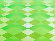 Damier en verre givré en vert de limette Images libres de droits