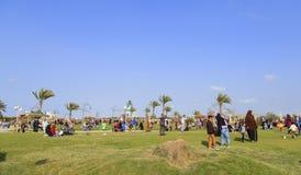 DAMIETTA, EGYPT - APRIL 4, 2015: children play on gardens celebr Royalty Free Stock Photos