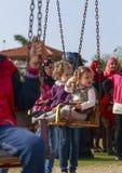 DAMIETTA, EGYPT - APRIL 4, 2015: children play on gardens celebr Royalty Free Stock Images